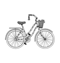 Bicycle engraving style vector