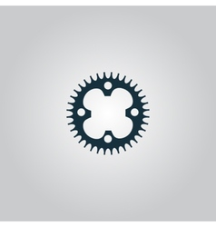bicycle sprocket vector image