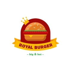 bright burger restaurant logo Brand sign vector image