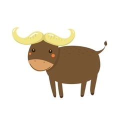Buffalo Realistic Childish vector image