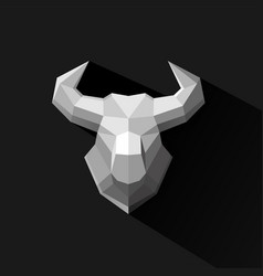 bull polygon logo design vector image