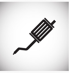 car exhaust system on white background for graphic vector image