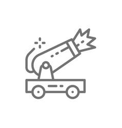 Circus cannon line icon vector