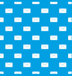 closed envelope pattern seamless blue vector image