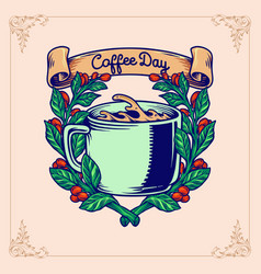 Coffee day plant vector