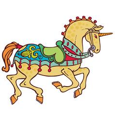 Colorful smart unicorn vector