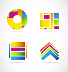 Colors icon logo set symbol element vector image