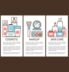 cosmetic and makeup skin care vector image
