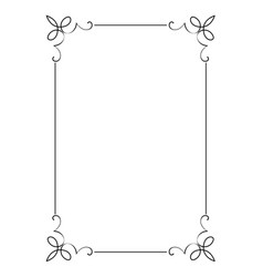 Decorative vertical frame with curls vector