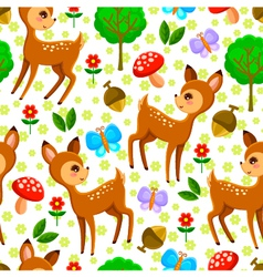 Deer pattern vector