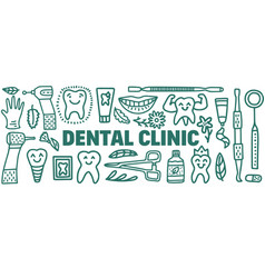 Dentistry concept with dental instruments and vector