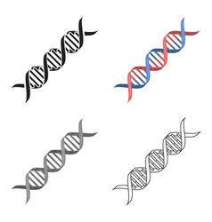 dna code icon cartoon single medicine icon from vector image