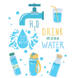 drink more water for good health concept vector image