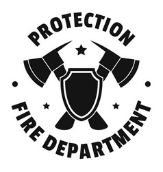 Fire protection department logo simple style vector