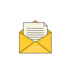flat design modern of mail vector image