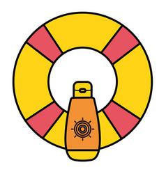 Float lifeguard with solar blocker summer vector