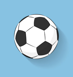 football soccer ball icon flat stile with long vector image