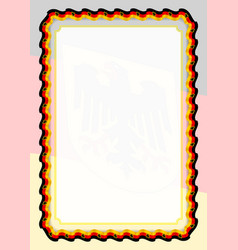 Frame and border of ribbon with germany flag vector
