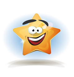 funny star character icon vector image