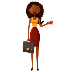 glamorous african american women enjoying coffee vector image