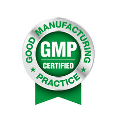 Gmp good manufacturing practice certified round vector