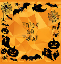 halloween background trick or treat vector image