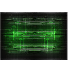 High tech set of lines on a green background vector