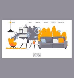 interior design website vector image