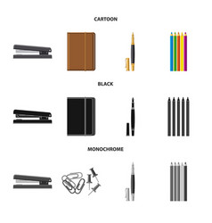 isolated object of office and supply symbol set vector image
