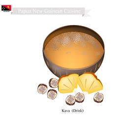 Kava or Papua New Guinea Herbal Beverage vector