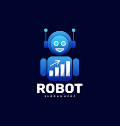 logo robot gradient colorful style vector image