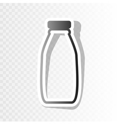 milk bottle sign new year blackish icon vector image