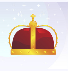 monarch crown vector image