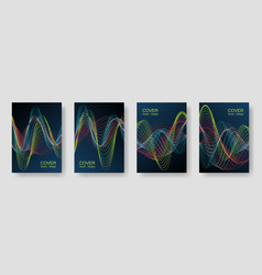 music party posters with colorful dj equalizer vector image