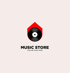 Music store logo template vector