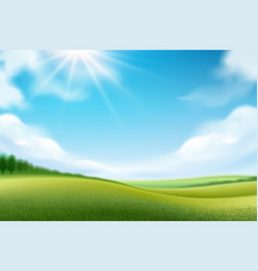 nature landscape or meadow panorama vector image
