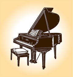 old timey piano vector image
