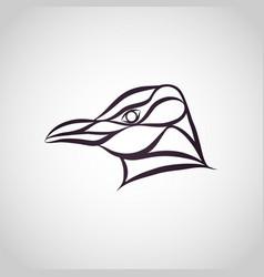 Penguin logo icon vector