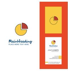 pie chart creative logo and business card vector image