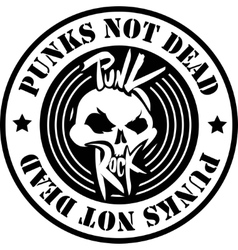 Punk Rock Logo vector image