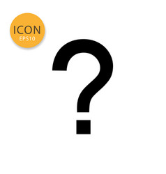 question mark icon isolated flat style vector image