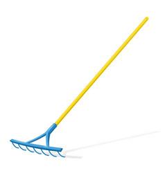 Rake garden tool vector