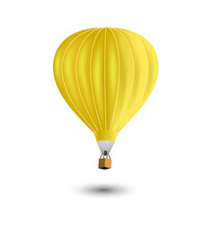 Realistic colorful hot air balloon vector
