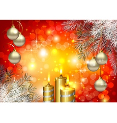 Red Christmas background vector image