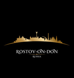 Rostov-on-don russia city silhouette black vector