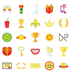 Scholarship icons set cartoon style vector