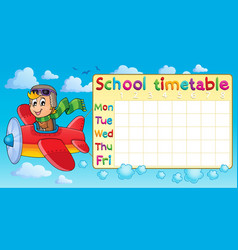 School timetable thematic image 1 vector