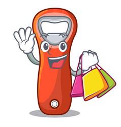 Shopping aluminium bottle opener for design vector