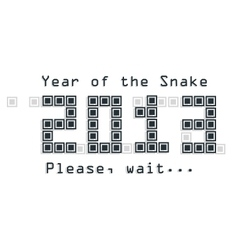 Snake year concept vector