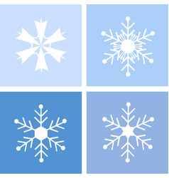 Snowflake merry christmas card vector